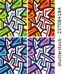 abstract colorful geometric... | Shutterstock .eps vector #237084184