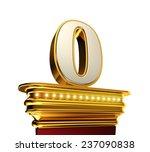 number zero on a golden...   Shutterstock . vector #237090838