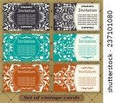 set of vintage cards | Shutterstock .eps vector #237101080