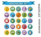 health care doddle icons  set... | Shutterstock . vector #237102994