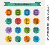 black clipboard icons set in...