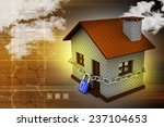 house in with padlock  security ... | Shutterstock . vector #237104653