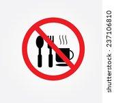 no eating vector sign no food... | Shutterstock .eps vector #237106810