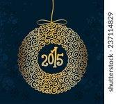 christmas ball  christmas tree... | Shutterstock .eps vector #237114829