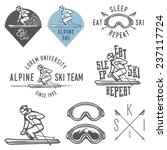 set of retro ski emblems ... | Shutterstock . vector #237117724