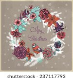 merry christmas floral... | Shutterstock .eps vector #237117793