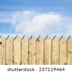 wooden fence   on sky background | Shutterstock . vector #237119464