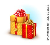 christmas icon with gift boxes | Shutterstock .eps vector #237121618