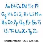 watercolor hand drawn alphabet. ... | Shutterstock .eps vector #237126736