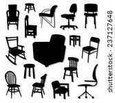 chair vector and icon set great ... | Shutterstock .eps vector #237127648