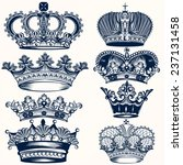 vector set of crowns for your... | Shutterstock .eps vector #237131458