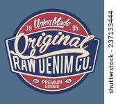 vintage denim typography  t... | Shutterstock .eps vector #237133444
