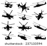 Military Helicopter Silhouette...