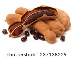 Tamarind On White Background