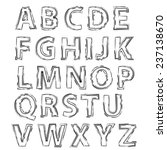 illustration  with  alphabet... | Shutterstock . vector #237138670