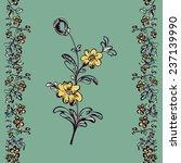 seamless border floral pattern  ...   Shutterstock .eps vector #237139990
