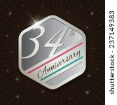 34th anniversary   classy and... | Shutterstock .eps vector #237149383