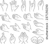 hand collection   vector line...