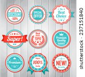 Vintage Labels template set. Retro badges for your design. Vector illustration. | Shutterstock vector #237151840