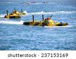 amphibious landings on the coast