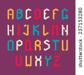 colorful vector alphabet set in ... | Shutterstock .eps vector #237153280