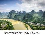 karst mountain landscape on the ... | Shutterstock . vector #237156760