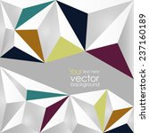 vector abstract triangles white ... | Shutterstock .eps vector #237160189