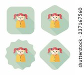 dripping nose flat icon with... | Shutterstock .eps vector #237167560