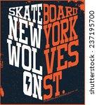 new york skater graphic design | Shutterstock .eps vector #237195700