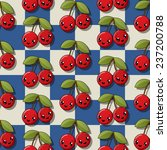 happy cherry pattern | Shutterstock . vector #237200788