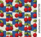 happy cherry pattern | Shutterstock . vector #237200788