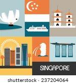 symbols of singapore city.... | Shutterstock .eps vector #237204064