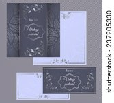 greeting and invitation cards.... | Shutterstock .eps vector #237205330