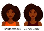 cute african american girl with ... | Shutterstock . vector #237212209