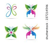 Stock vector abstract butterfly vector design represents beauty salon spa signs and symbols 237214546