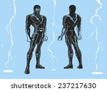 strong super hero or foe... | Shutterstock .eps vector #237217630
