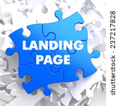 landing page on blue puzzle on...
