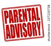 parental advisory grunge rubber ... | Shutterstock .eps vector #237220738