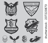 football team crests set with... | Shutterstock .eps vector #237223873