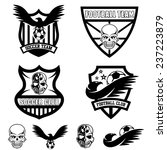 football team crests set with... | Shutterstock .eps vector #237223879