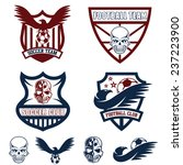 football team crests set with... | Shutterstock .eps vector #237223900