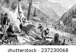 the gold rush  a gold miner... | Shutterstock . vector #237230068
