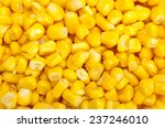 Bulk Of Yellow Corn Grains...