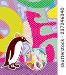 abstract artsy pinguin | Shutterstock .eps vector #237246340