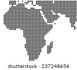 africa and middle east dotted... | Shutterstock .eps vector #237248656