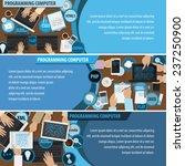 programming computer flyer...   Shutterstock .eps vector #237250900
