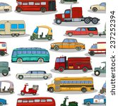 cartoon retro cars seamless... | Shutterstock . vector #237252394
