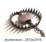 bear trap on white background.... | Shutterstock . vector #237262474