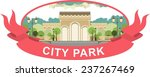 city park with a beautiful... | Shutterstock .eps vector #237267469