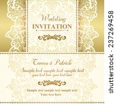 baroque wedding invitation card ... | Shutterstock .eps vector #237269458